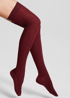 HUE Pointelle Rib Over-the-Knee Socks