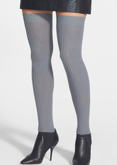 Hue Pointelle Ribbed Over the Knee Socks