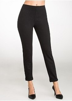 HUE Ponte Cuffed Tweed Skimmer Leggings