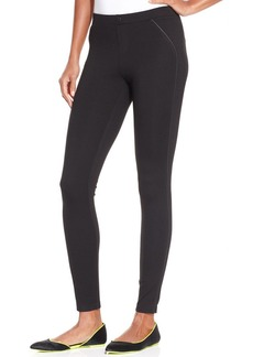 Hue Ponte with Leatherette Piping Leggings