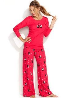 Hue Printed Thermal Top and Pajama Pants Set