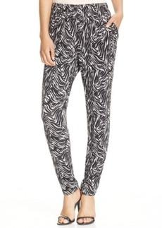 Hue Relaxed Jersey Elastic Zebra Leggings