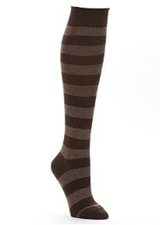 HUE Roll Top Knee High Socks