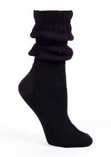 HUE Ruched Crew Socks