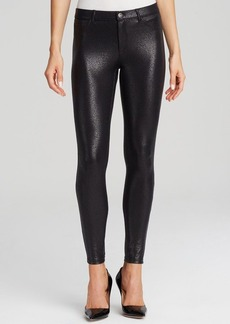 HUE Satin Jersey Metallic Gravel Leggings