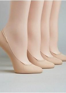 HUE Sheer Microfiber Shoe Liners 4-Pack