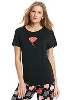 HUE® Short Sleeve Pajama Top - Heart Balloon