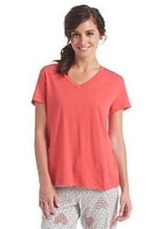 HUE® Short Sleeve V-Neck Pajama Top