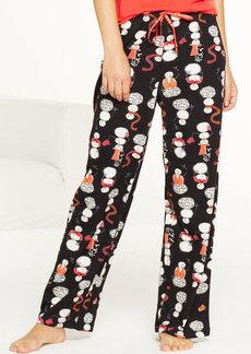 HUE Smiley Snowman Pajama Pants