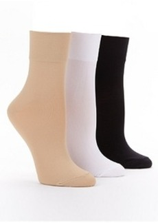 HUE Smooth Bitsy Ankle Socks 3-Pack