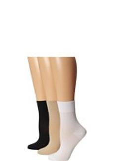 HUE Smooth Bitsy Sock 3-Pair Pack