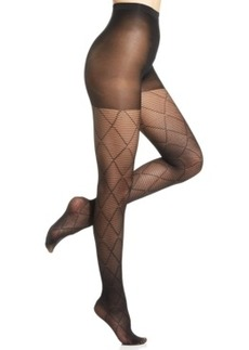 Hue Striped Diamond Tights with Control Top
