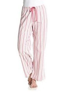 HUE Striped Pajama Pants - Pink/Grey