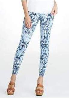 HUE Super Smooth Scroll Denim Leggings