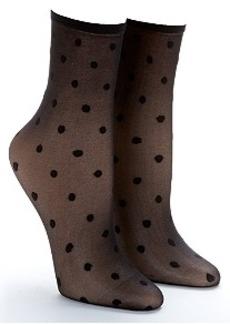 HUE Swiss Dot Sheer Anklet