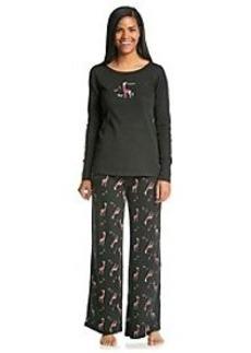 HUE® Thermal Knit Giraffe Pajama Set