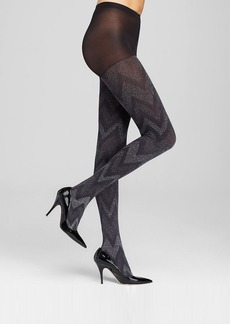 HUE Tights - Metallic Zig-Zag Control Top #U14813