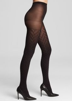 HUE Tights - Ridged Herringbone Control Top #U14539