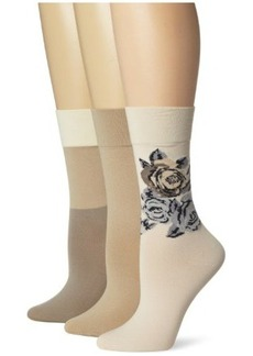 Hue Women's 3 Pack Ultrasmooth Sock