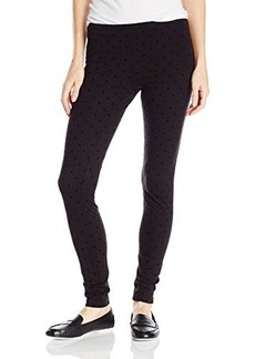 Hue Women's Flocked Dot Cotton Legging