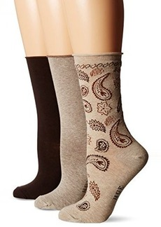 Hue Women's Jeans 3 Pair Pack Fashion Sock