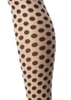 Hue Women's Sheer Dot Tights with Control Top