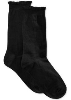 Hue Women's Solid Femme Top Sock