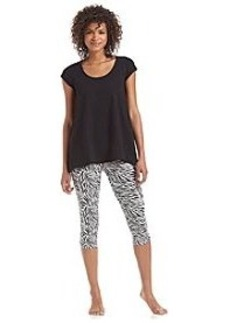 HUE® Zebra Capri Leggings Pajama Set