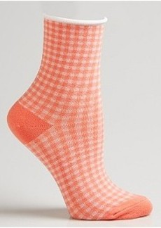 HUEtopia Gingham Shortie Socks