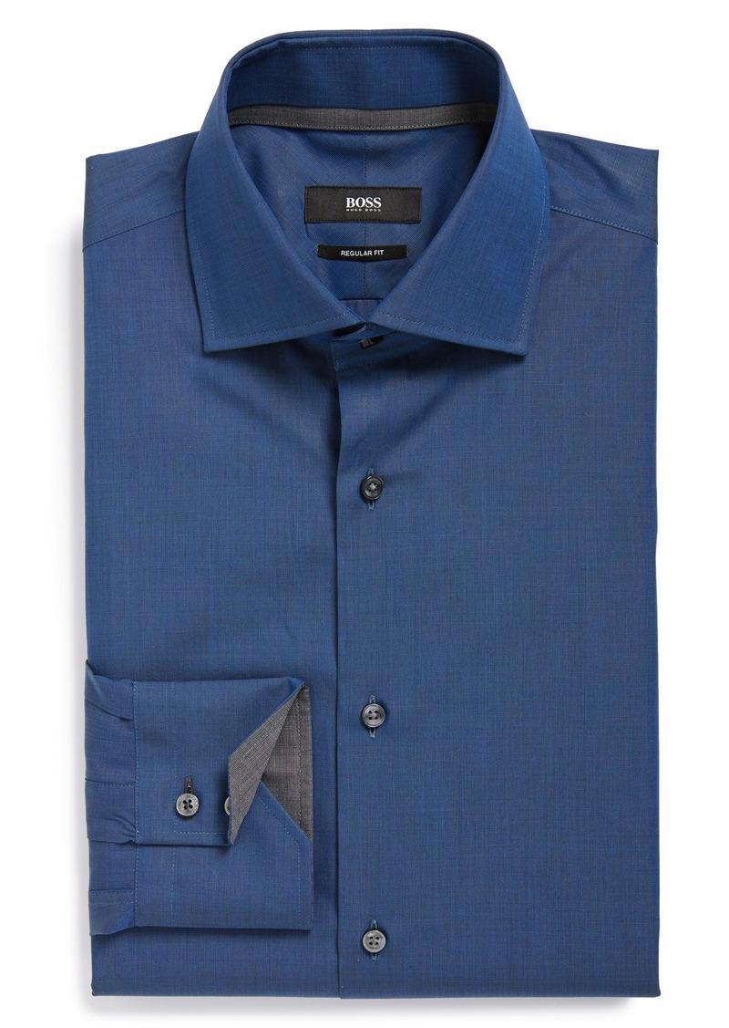 Hugo boss boss 39 gregory 39 ww regular fit dress shirt for Hugo boss formal shirts
