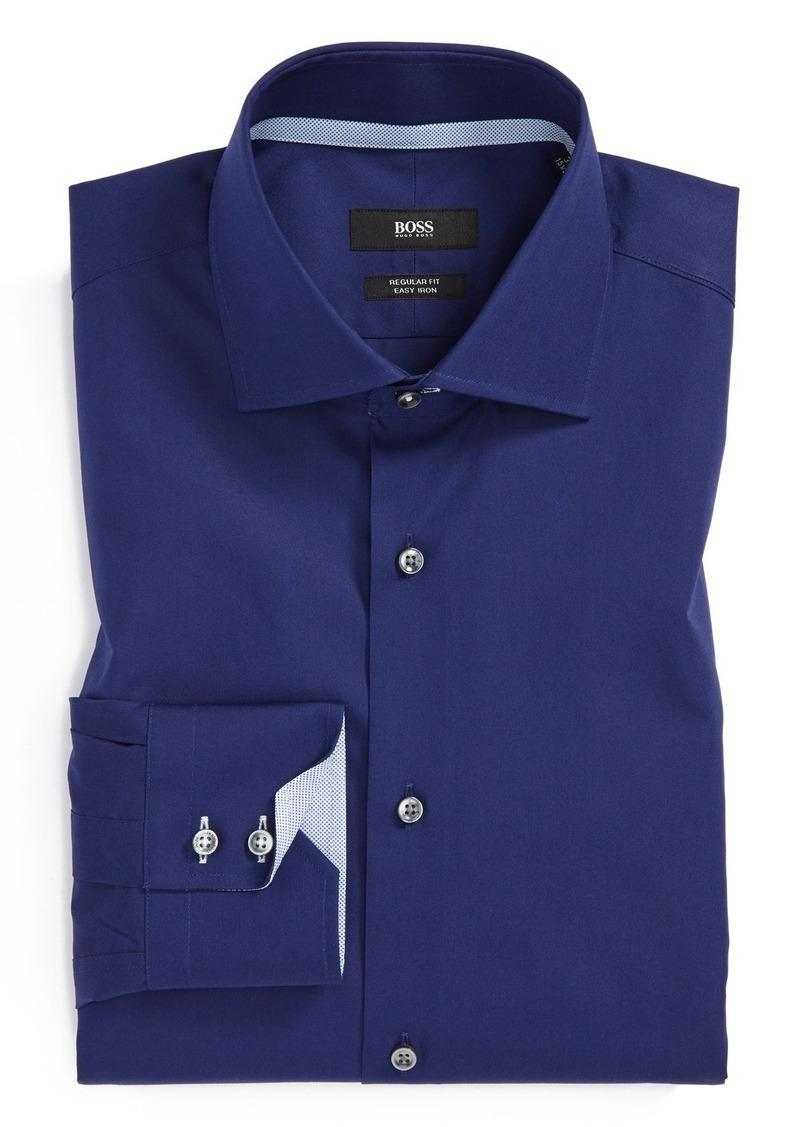 Hugo boss boss 39 gregory 39 ww regular fit easy iron solid for Hugo boss formal shirts