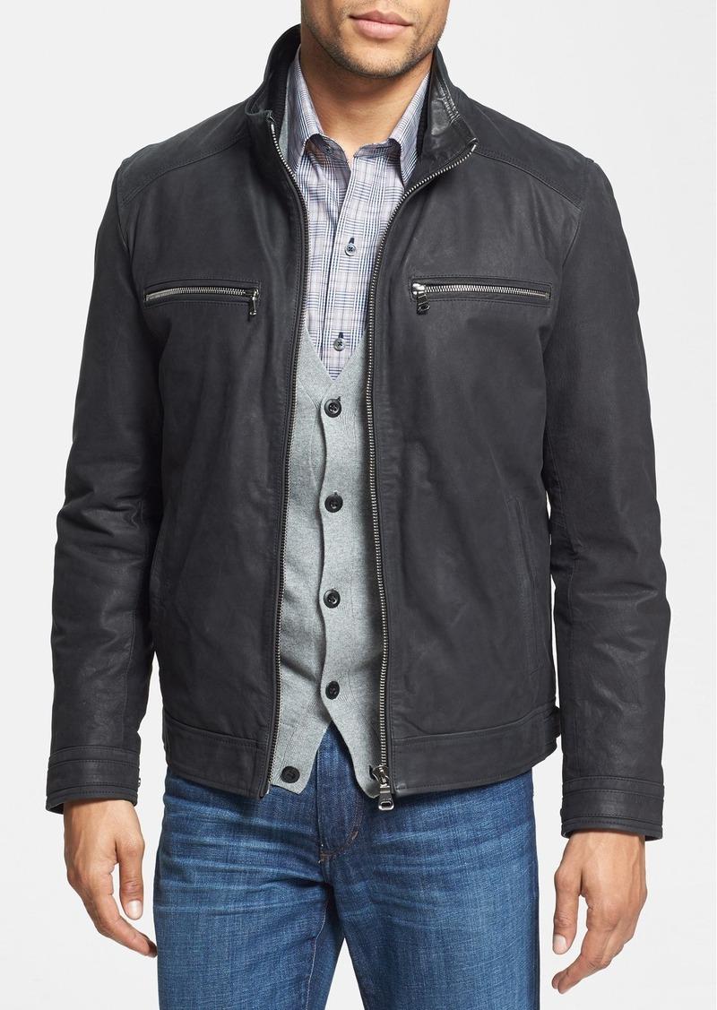 hugo boss boss hugo boss 39 alvin 39 leather jacket. Black Bedroom Furniture Sets. Home Design Ideas