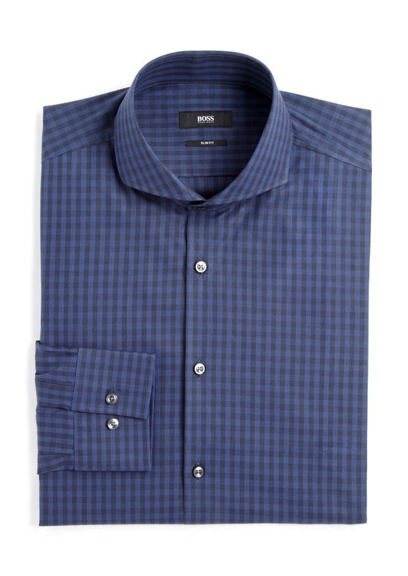 hugo boss hugo boss dwayne check slim fit dress shirt