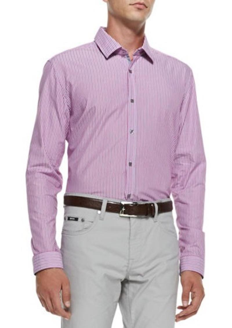 Hugo Boss Boss Hugo Boss Fine Stripe Woven Shirt Medium