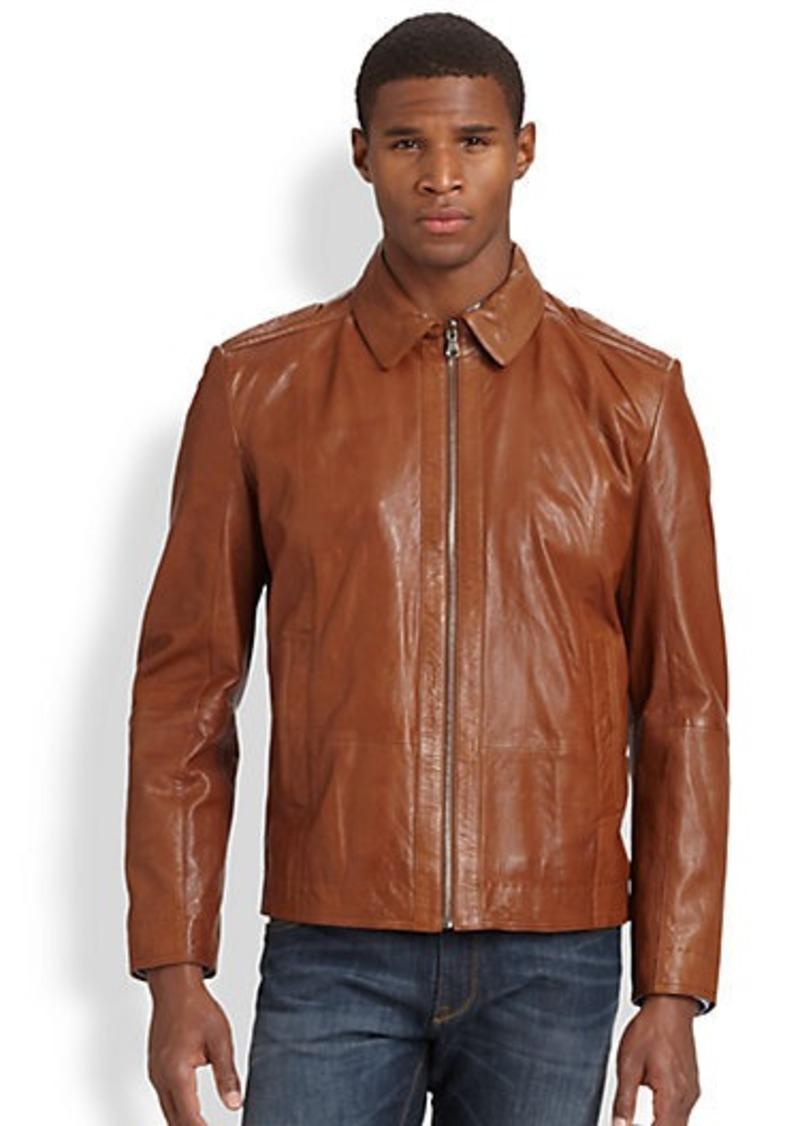 hugo boss boss hugo boss garrin leather jacket outerwear. Black Bedroom Furniture Sets. Home Design Ideas