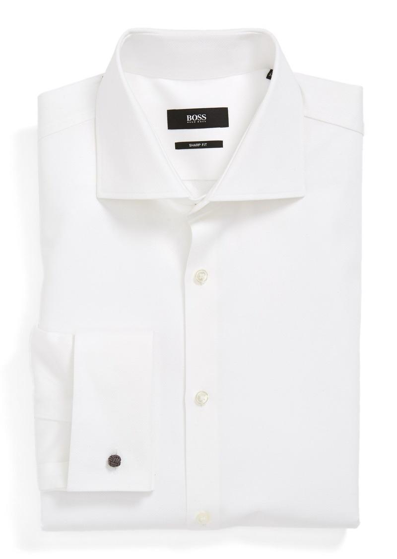 Hugo Boss Boss Sharp Fit French Cuff Dress Shirt Dress