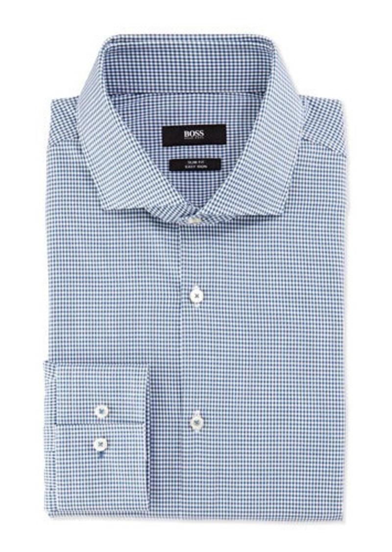 Hugo boss boss hugo boss slim fit easy iron mini check for Hugo boss slim fit dress shirt