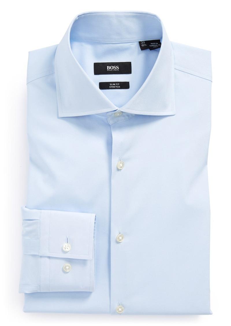 Hugo boss boss 39 jaron 39 ww slim fit dress shirt dress for Hugo boss formal shirts