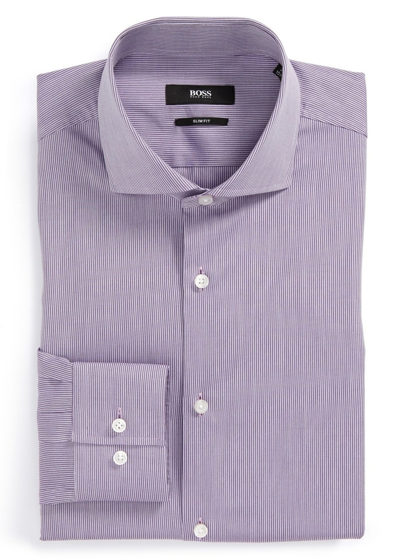 Hugo Boss Boss 39 Jason 39 Slim Fit Stripe Dress Shirt Dress
