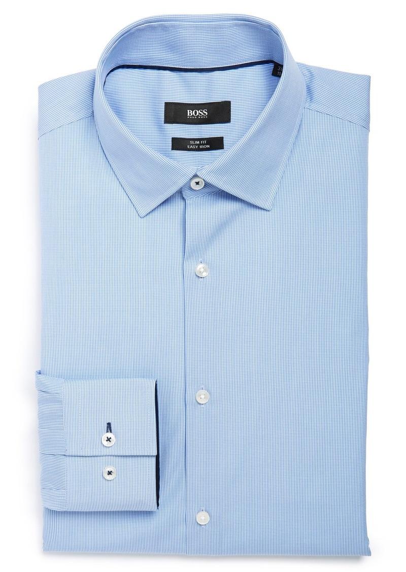 Hugo boss boss 39 joey 39 ww slim fit dress shirt dress for Hugo boss slim dress shirt