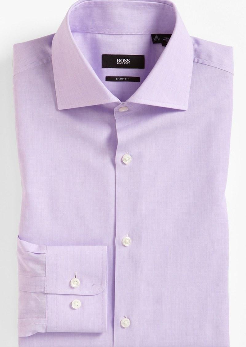 Hugo boss boss 39 miles 39 sharp fit end on end dress shirt for Hugo boss shirt dress