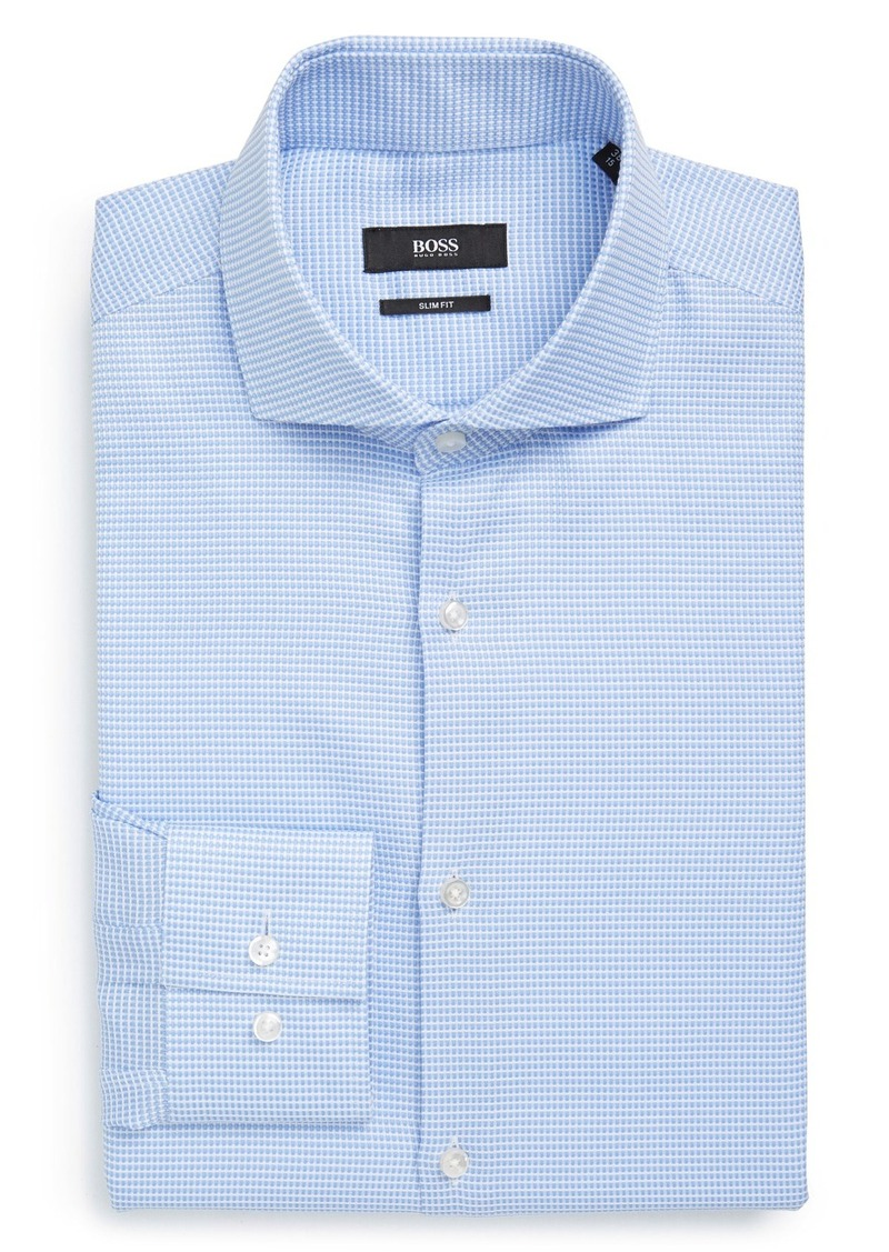 Hugo Boss Boss Slim Fit Check Dress Shirt Dress Shirts