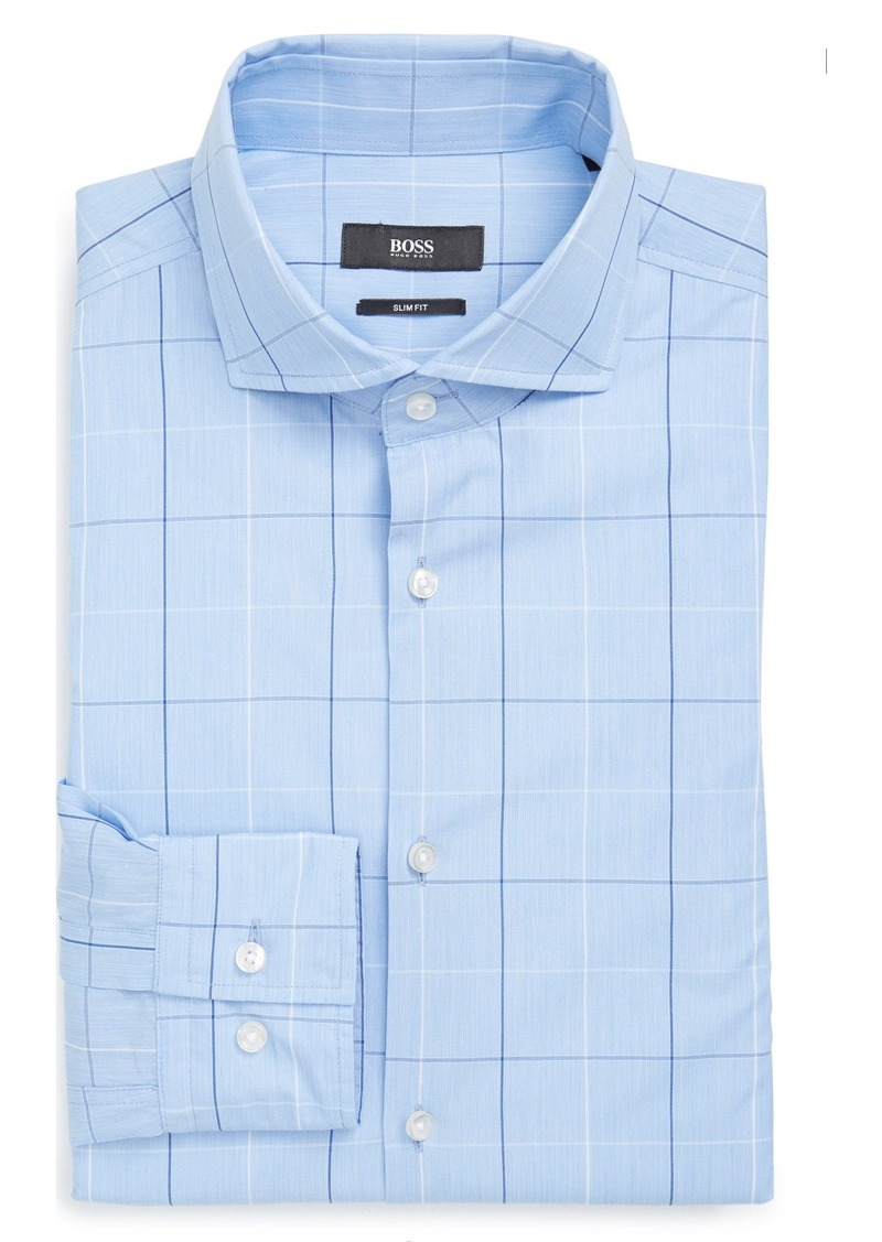 Hugo Boss Boss Slim Fit Windowpane Dress Shirt Dress
