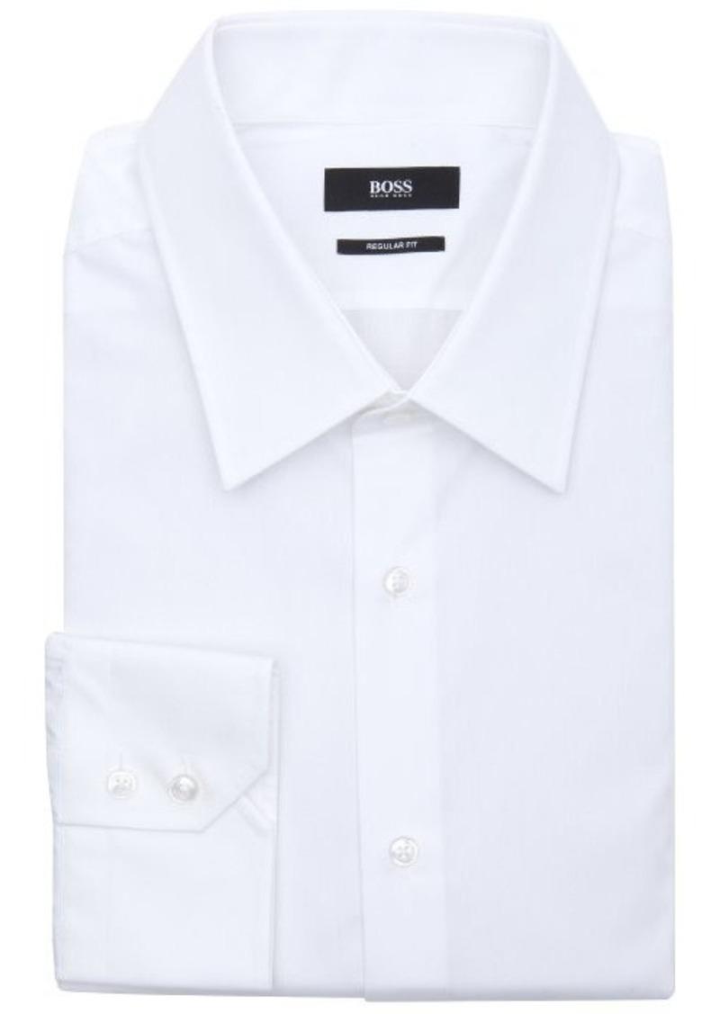 Hugo boss hugo boss bianco cotton point collar dress shirt for Hugo boss formal shirts