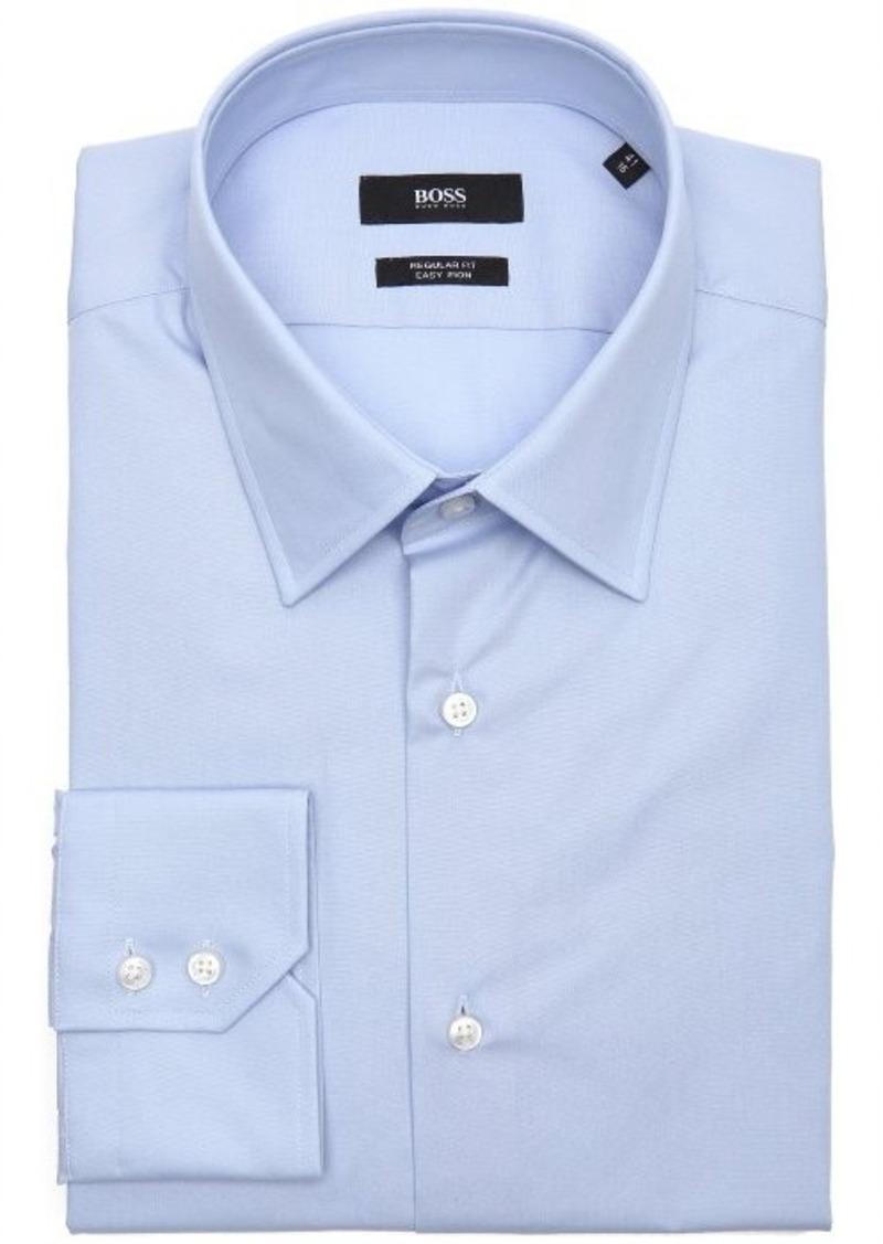 Hugo boss hugo boss bright blue cotton point collar dress for Hugo boss formal shirts