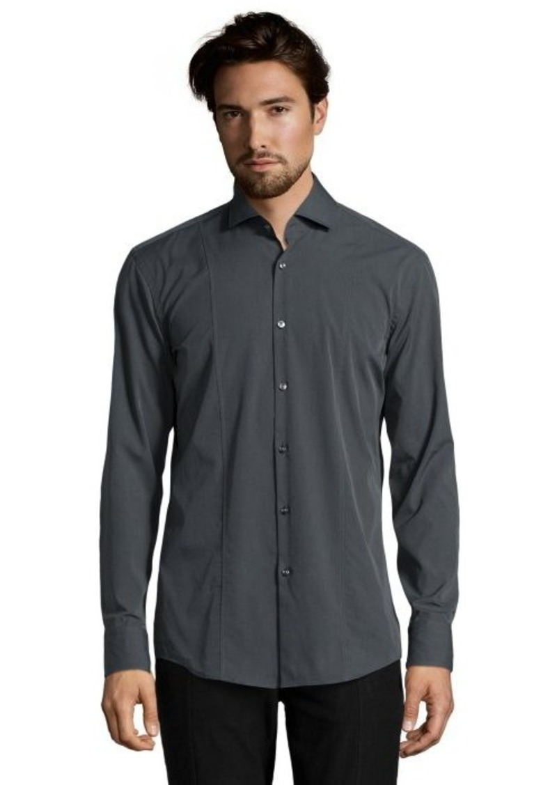 Hugo boss hugo boss grey stretch cotton blend 39 jason for Hugo boss jason shirt