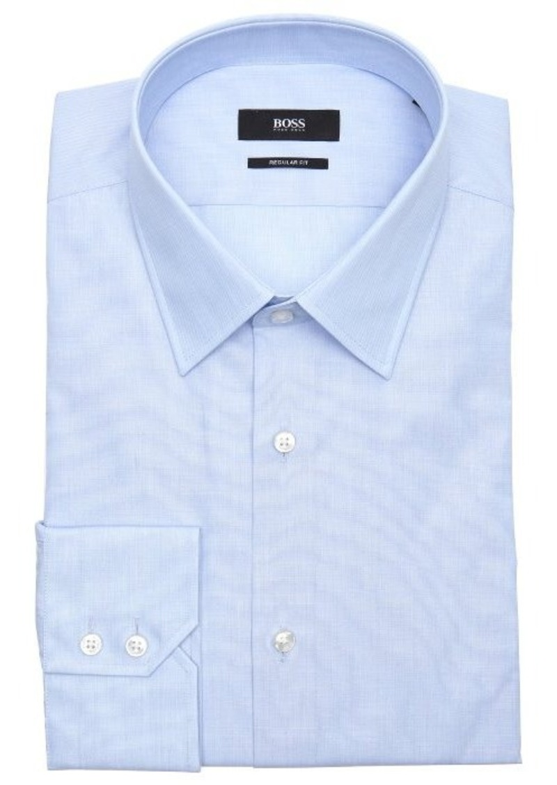 Hugo boss hugo boss pastel blue cotton point collar dress for Hugo boss formal shirts