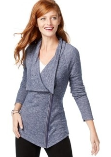 Inc International Concepts Petite Asymmetrical Zip Cardigan, Only at Macy's