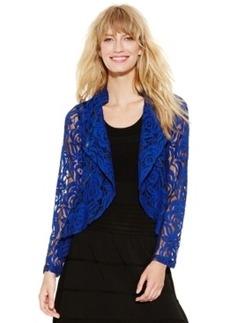 Inc International Concepts Asymmetrical-Zip Lace Moto Jacket