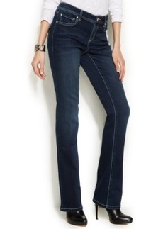 Inc International Concepts Petite Bootcut Jeans, Dark Wash
